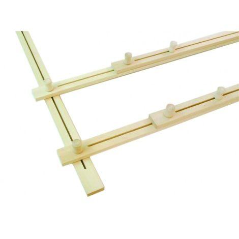 Adjustable wooden frame