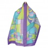 Silk scarves with preprinted gutta lines - Distraksyon