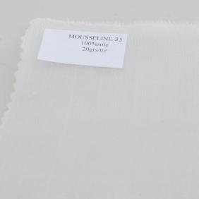 Foulard et écharpes pré-roulottée en mousseline  - Chiffon 3.5 - Schal 90 x 90 cm
