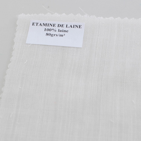 Etamine de laine au mètre