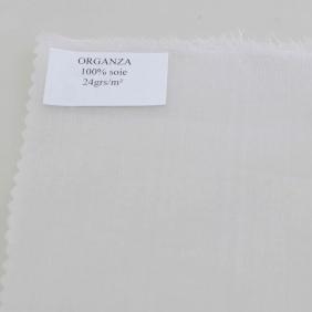 Organza soie au mètre - Organza 5.5 white - Roll of 6 meters - width 140 cm