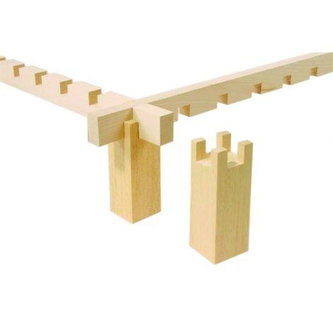 Set von 4 Halterungen aus Holz
